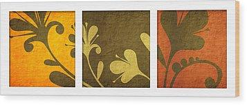 Brown Decor Wood Print by Nomi Elboim