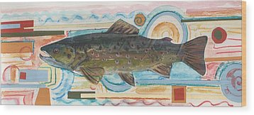 Brown Trout 1 Wood Print by Michelle Grove