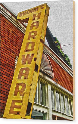 Browns Harware Wood Print by Gregory Dyer