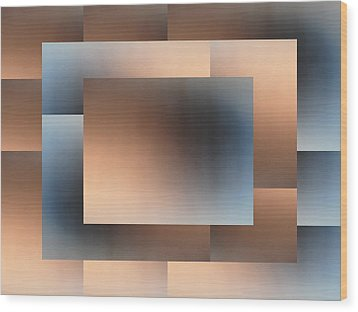 Brushed 01 Wood Print by Tim Allen