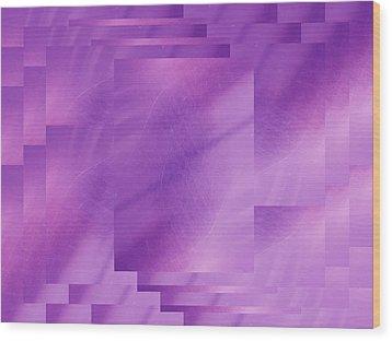 Brushed Purple Violet 7 Wood Print by Tim Allen