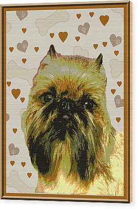 Brussels Griffen Wood Print by One Rude Dawg Orcutt