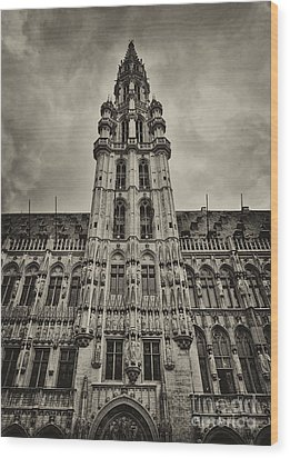 Wood Print featuring the photograph Brussels Groot Markt I by Jack Torcello