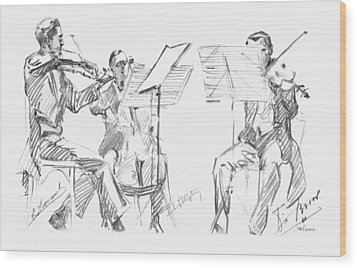 Brussels String Trio Wood Print by Granger