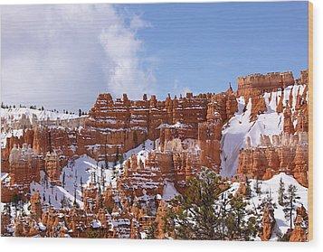 Bryce Canyon Castles Wood Print by Viktor Savchenko