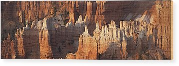 Wood Print featuring the photograph Bryce Canyon Desert Sunrise Panorama by Mike Irwin