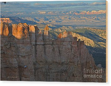 Bryce Canyon National Park Dusk Landscape Wood Print by Nature Scapes Fine Art