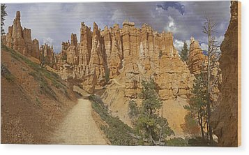 Wood Print featuring the photograph Bryce Canyon Trail by Gregory Scott