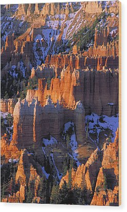 Bryce Sunrise Wood Print