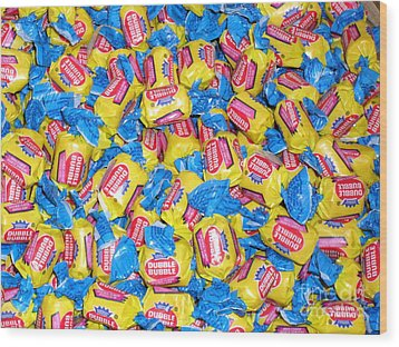 Bubble Gum Bubble Gum Wood Print by Beth Saffer