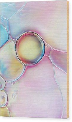 Bubble Wood Print by Sharon Johnstone