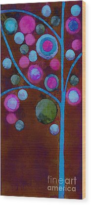 Bubble Tree - W02d - Left Wood Print by Variance Collections