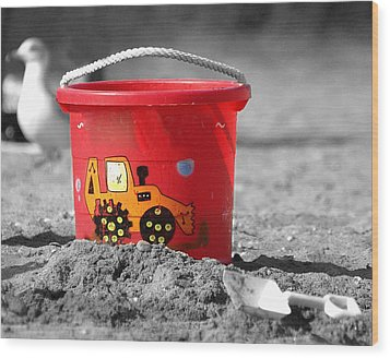 Wood Print featuring the photograph Get A Bucket by Raymond Earley