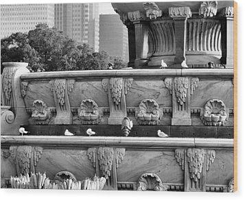 Buckingham Fountain - 5 Wood Print by Ely Arsha