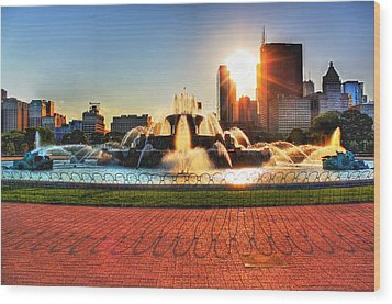 Buckingham Fountain Wood Print by Dan Stone