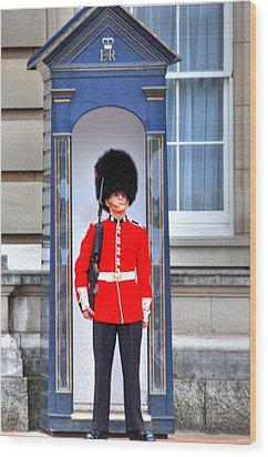 Buckingham Palace Wood Print by Barry R Jones Jr
