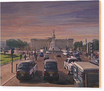 Buckingham Palace Wood Print by Nop Briex