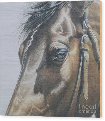 Buckles And Belts In Colored Pencil Wood Print by Carrie L Lewis