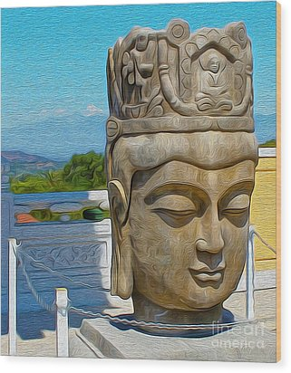 Buddha - 01 Wood Print by Gregory Dyer