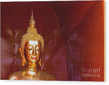 Buddha Bliss Wood Print by Sonny Marcyan