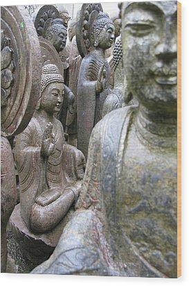 Wood Print featuring the photograph Buddha City by Brian Sereda
