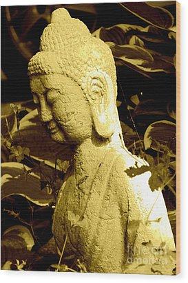 Buddha  Wood Print by France Laliberte