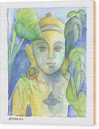 Buddha Wood Print by Karin Zukowski