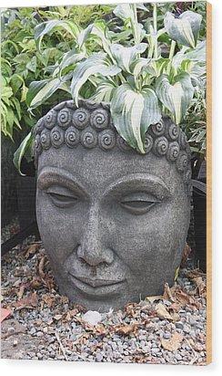 Buddha On A Hot Summer Island Day Wood Print by Brian Sereda