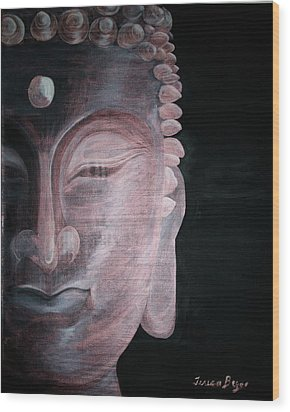 Wood Print featuring the painting Buddha by Teresa Beyer