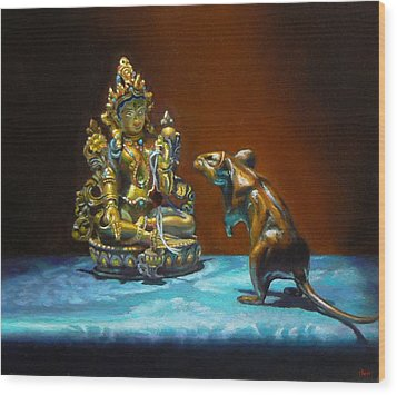 Buddhas Wood Print by Jeffrey Hayes