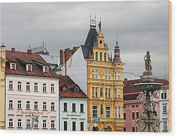 Budweis - Pearl Of Bohemia - Czech Republic Wood Print by Christine Till