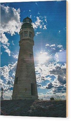 Buffalo Lighthouse 15717c Wood Print by Guy Whiteley