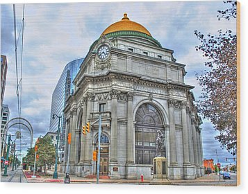 Wood Print featuring the photograph Buffalo Savings Bank  Goldome  M And T Bank Branch by Michael Frank Jr