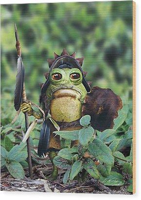 Bufo Warrior Goblin Wood Print by Bill Fleming