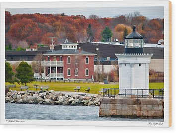 Wood Print featuring the photograph Bug Light Park by Richard Bean
