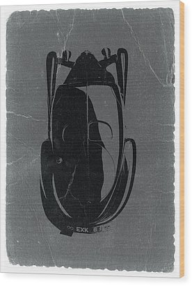 Bugatti 57 S Atlantic Top Wood Print by Naxart Studio