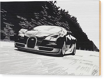 Bugatti Speed Wood Print by Lyle Brown