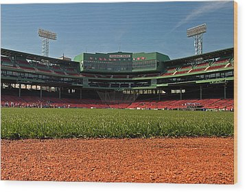 Bugs Eye View From Center Field Wood Print by Paul Mangold