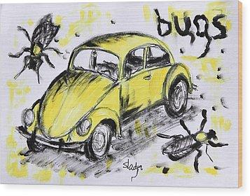 Bugs Wood Print by Sladjana Lazarevic