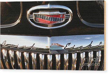 Wood Print featuring the photograph Buick 1952 Front Grill by Elizabeth Coats