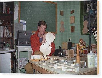 Building A Viola 1990s Joseph Duba Wood Print by Joseph Duba