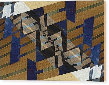 Building Deconnexion Wood Print by R Kyllo