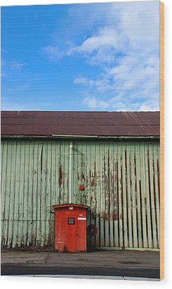 Wood Print featuring the photograph Building Series - Red Shack by Kathleen Grace
