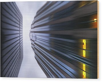 Buildings Abstract Wood Print by Svetlana Sewell