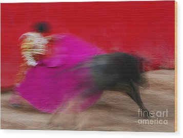 Wood Print featuring the photograph Bull Fighter - Mexico by Craig Lovell