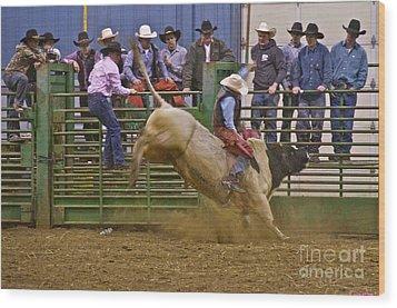 Bull Rider 2 Wood Print by Sean Griffin