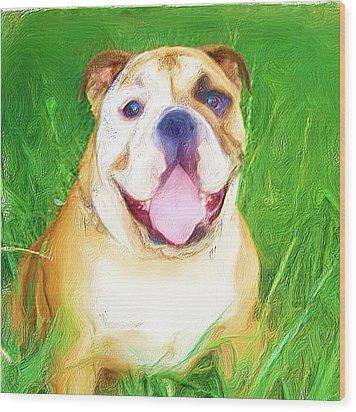 Bulldog Wood Print by Ritmo Boxer Designs