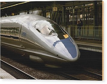 Bullet Train Wood Print by Jerry Patterson