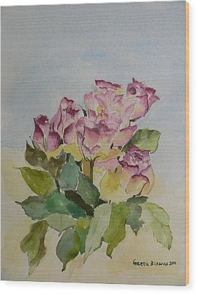 Wood Print featuring the painting Bunch Of Roses by Geeta Biswas