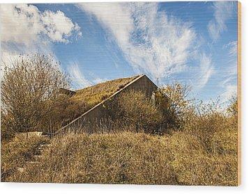 Bunker Down Wood Print by CJ Schmit